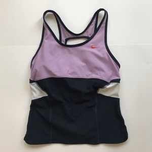 Nike women's sports top with built in bra size M